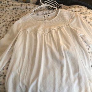 White old navy blouse